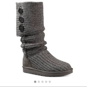 ❄️ UGG Cardi Grey Sweater Boot- Used US Size 6